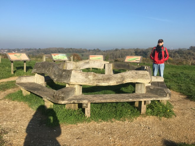Farthing Downs - where we had lunch