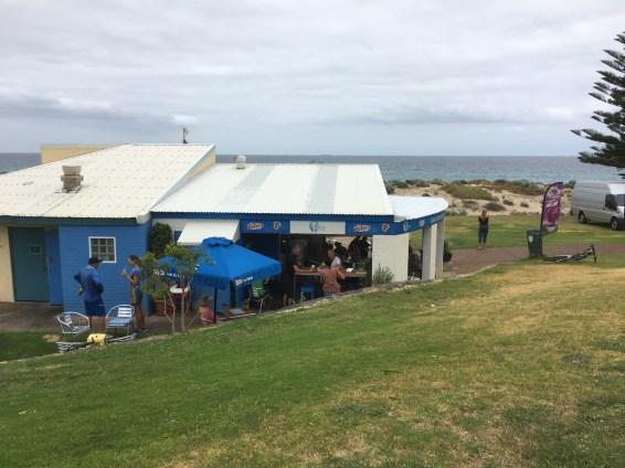 The cafe at Brighton Beach