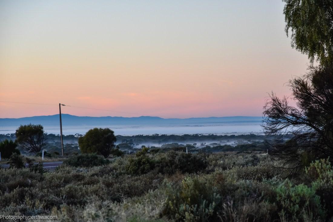 Ranges Rest Area - morning mist (1 of 1)