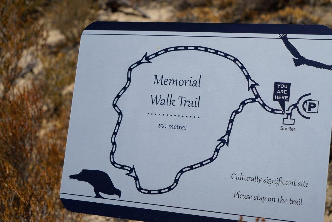 memorial walk trail sign (1 of 1)