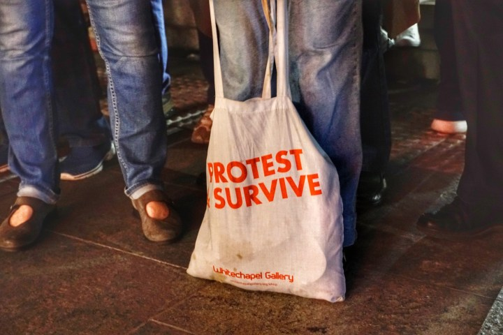 Pam's generic protest bag, good for all rallies!