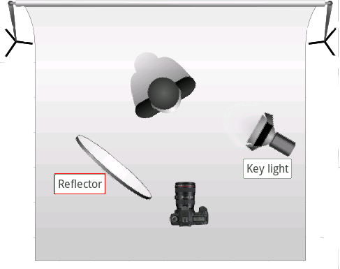 Image result for rembrandt lighting setup diagram