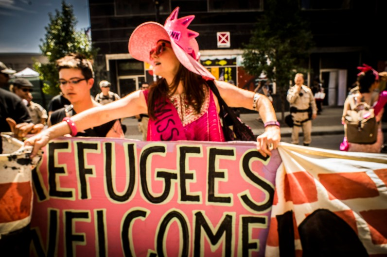 GOP Protest_Refugees Welcome