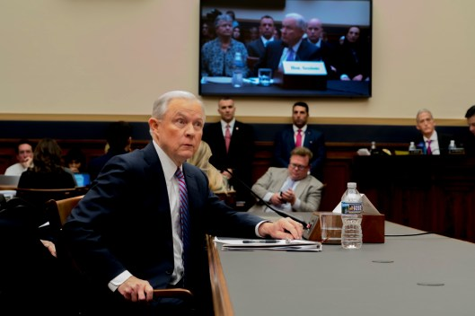 Attorney General Jeff Sessions testifies during House hearing04