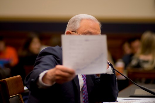 Attorney General Jeff Sessions testifies during House hearing34