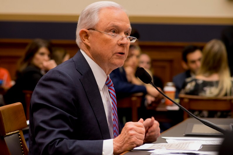 Attorney General Jeff Sessions testifies during House hearing40