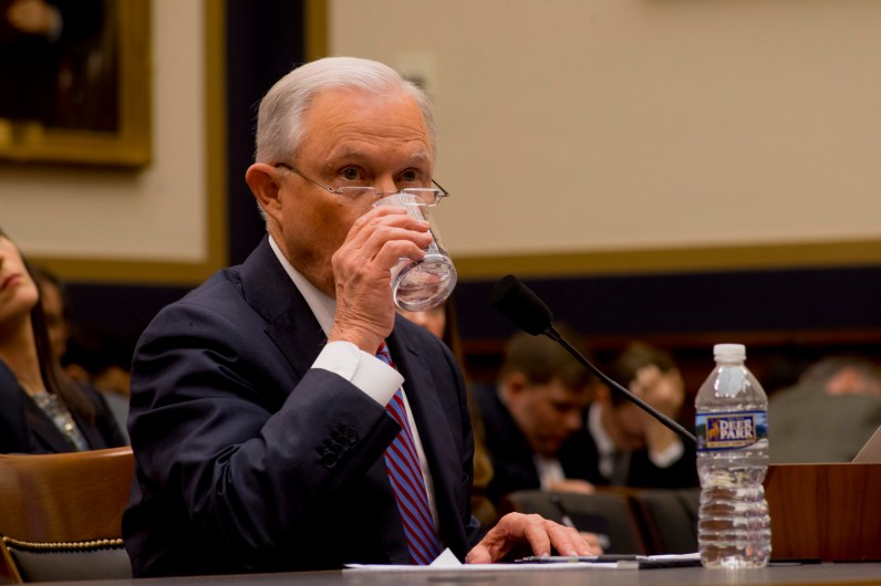 Attorney General Jeff Sessions testifies during House hearing56