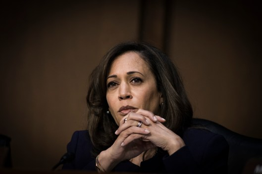 Sen Kamala Harris at the Worldwide Threats Assessment Senate briefing Feb 13, 2018