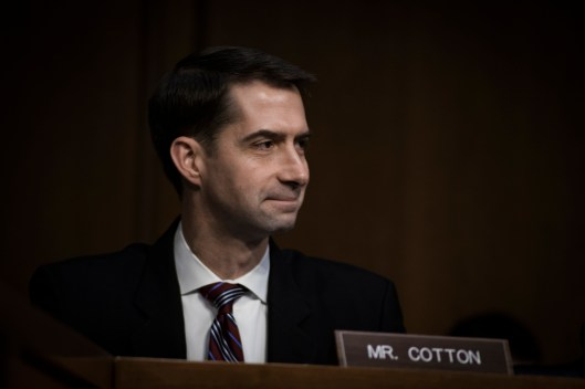Sen Tom Cotton at the Worldwide Threats Assessment Senate briefing Feb 13, 2018