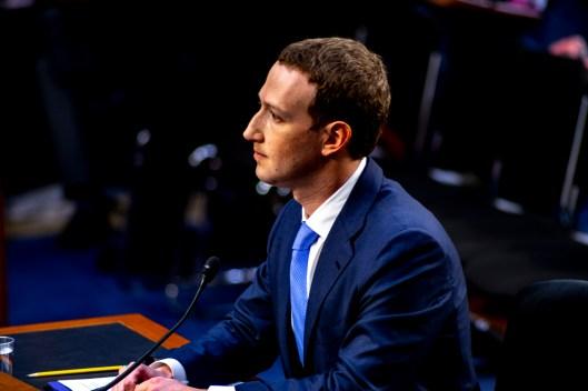 Facebook CEO, Mark Zuckerberg, testifies before the Senate, April 10, 2018,(Photo ©2018 Doug Christian)