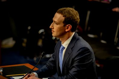 Facebook CEO MARK ZUCKERBERG testifies before a joint hearing of the Senate Judiciary and Commerce committees, April 10, 2018