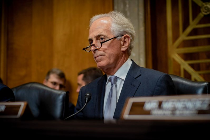 Chairman of the Senate Foreign Relations Committee, Bob Corker, (R-Tenn.)