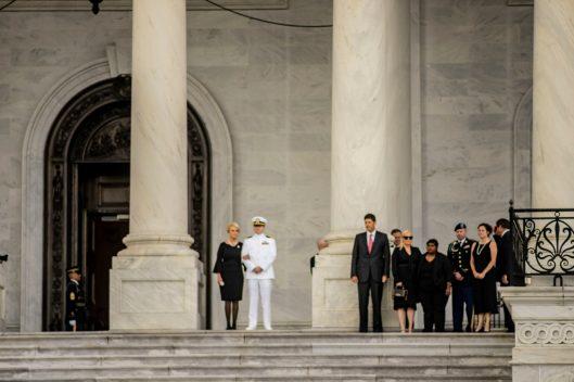 Senator JOHN MCCAIN lies in state in the U.S. Capitol Rotunda