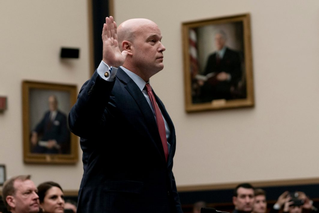Acting Attorney General MATTHEW WHITAKER testifies before the House Judiciary Committee, February 8, 2019