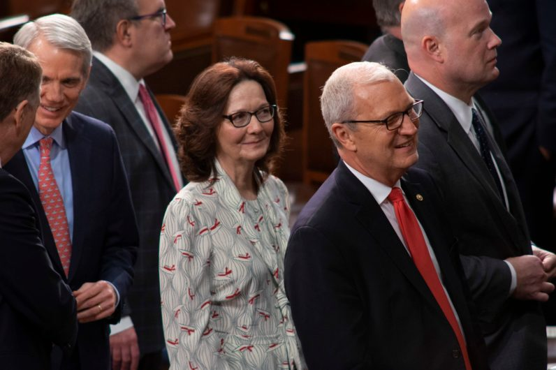 CIA Director GINA HASPEL at the State of the Union address, February 5, 2019