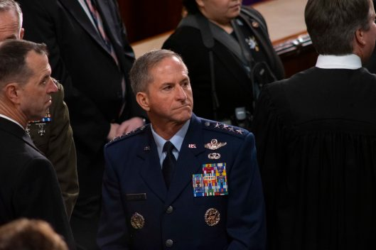 Chief of Staff of the Air Force, Gen DAVID L. GOLDFEIN at the State of the Union address, February 5, 2019