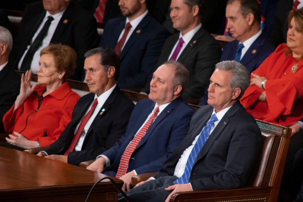 Republican congressional leadership in the House of Representatives at the State of the Union address, February 5, 2019