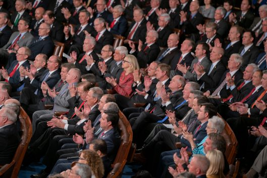 Republican lawmakers at the State of the Union address, February 5, 2019