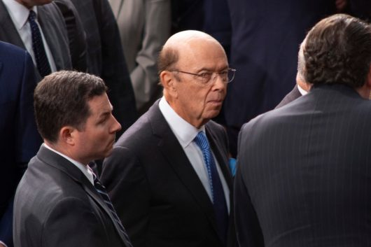Secretary of Commerce WILBUR ROSS at the State of the Union address, Tuesday February 5, 2019