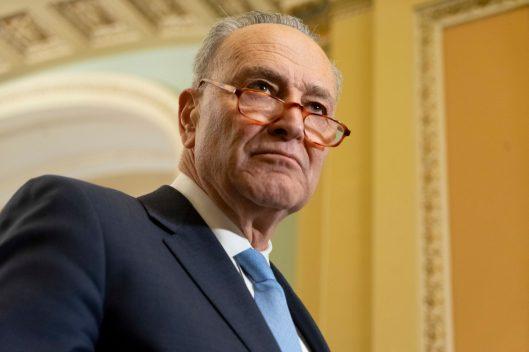 Senate Minority Leader CHUCK SCHUMER (D-NY) at the Senate Democratic Leadership News Conference, Tuesday February 5, 2019