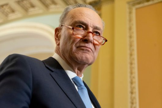 Senate Minority Leader CHUCK SCHUMER (D-NY) at the Senate Democratic Leadership News Conference, Tuesday February 5, 2019