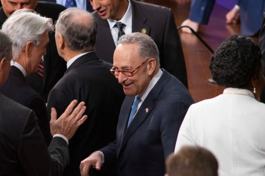 Senate Minority Leader CHUCK SCHUMER (D-NY) at the State of the Union address, Tuesday February 5, 2019