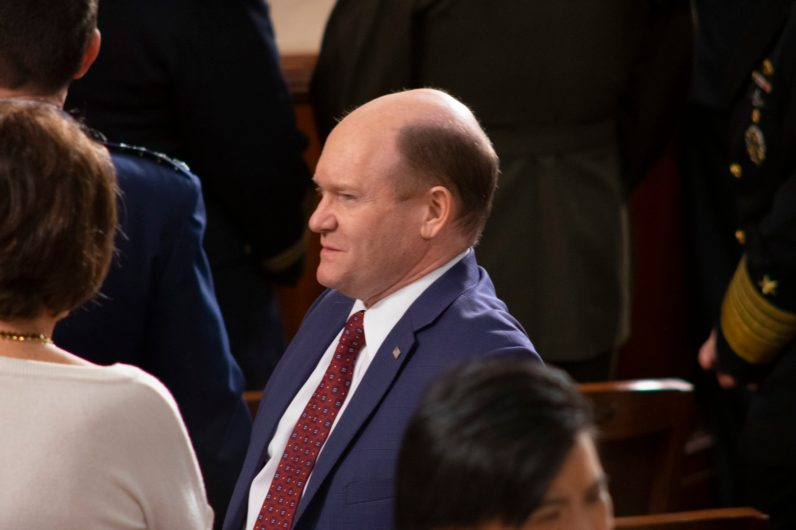 Senator CHRISTOPHER A. COONS (D-DE) at the State of the Union address, February 5, 2019