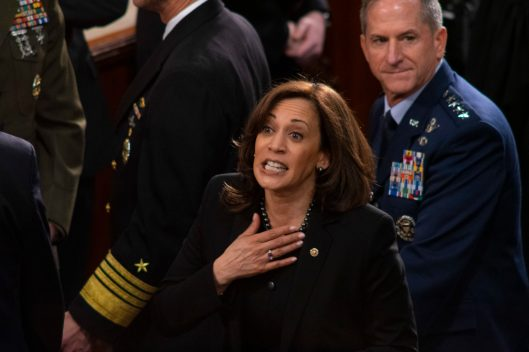 Senator KAMALA HARRIS (D-CA) at the State of the Union address, February 5, 2019