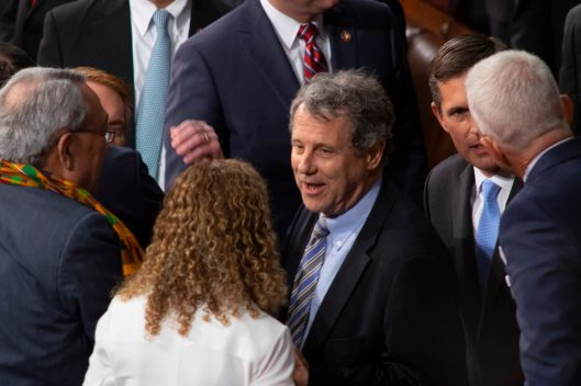Senator SHERROD BROWN (D-OH) at the State of the Union address, Tuesday February 5, 2019
