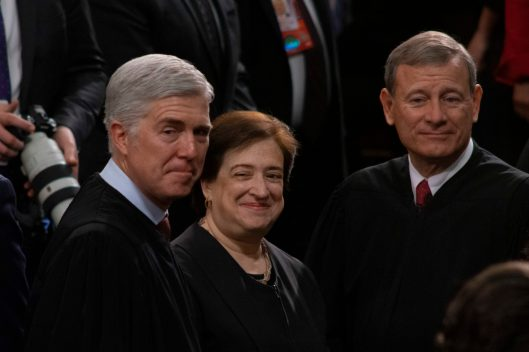 Supreme Court Justices NEIL GORSUCH, ELENA KAGAN and BRETT KAVANAUGH at the State of the Union address, February 5, 2019