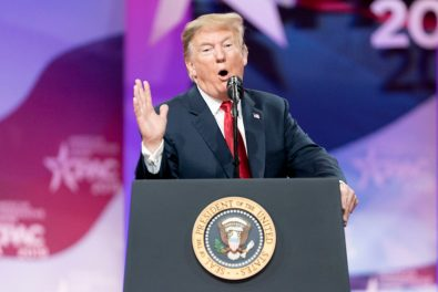 President Donald Trump speaks before CPAC, March 2, 2019