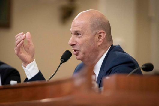 United States' Ambassador to the European Union GORDON SONDLAND testifies before the House Intelligence Committee on the third day of open testimony regarding the impeachment inquiry into President Donald Trump's efforts to withhold military aid from Ukraine until they provided damaging statements against his political rival, Joe Biden. November 20, 2019