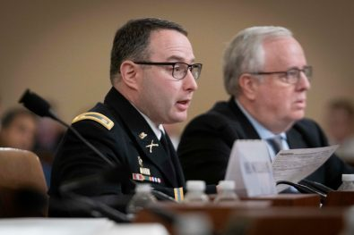 LTC ALEXANDER VINDMAN, Director for European Affairs for the NSC, testifies before the House Intelligence Committee, November 19, 2019