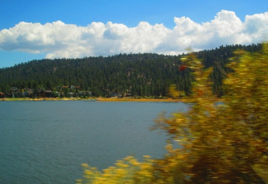 The view of Big Bear Lake as we drove by.