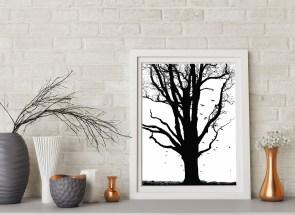 фотография для интерьеров, пейзаж с деревом
