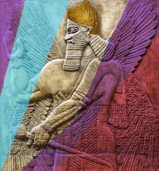 Древнеегипетские барельефы в стиле попарта