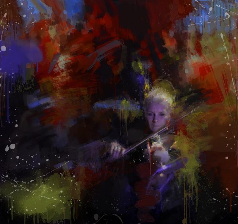 Ирина Сорокина, бэк-скрипка. КняZz