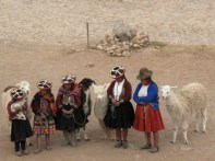 Another traditional shot: ladies and their llamas. This one was worth a few soles....