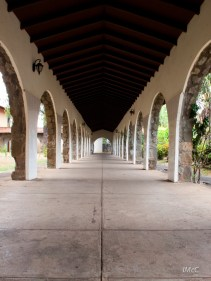 Passage way at the Santiago college