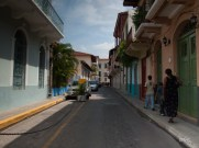 Tiny street in Panama Viejo - I can see myself living here!