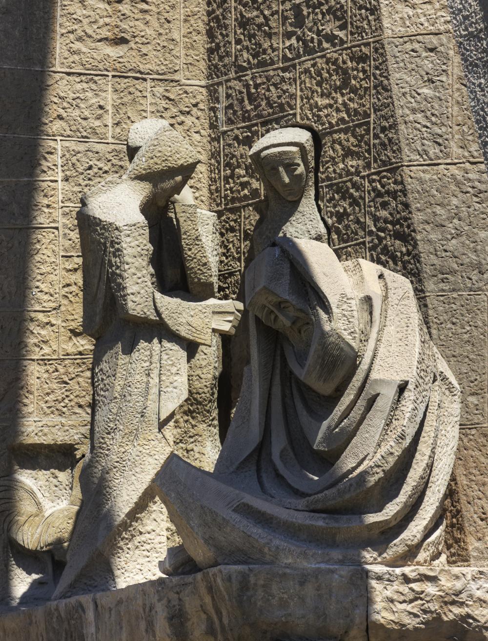 La Sagrada statue I (Barcelon 2011)