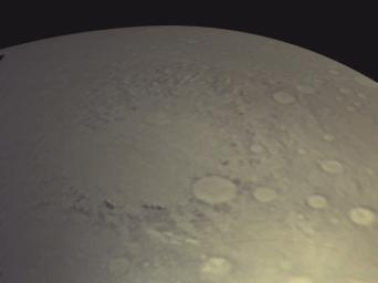 View of Argyre Basin from Test of Mars Color Image
