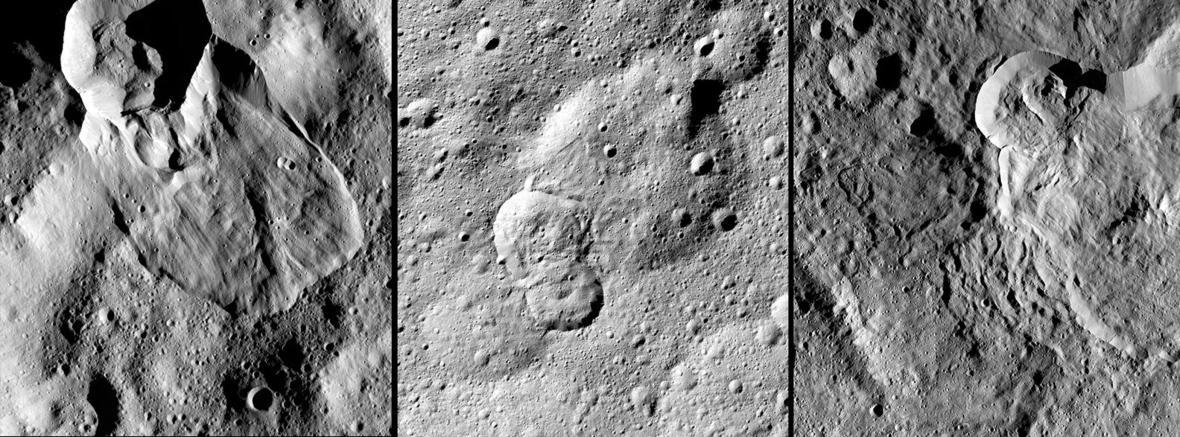 Water ice landslides on dwarf planet Ceres