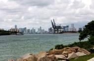 View to downtown Miami