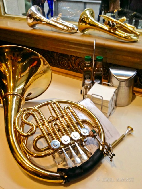 A French horn, such a beautiful instrument.