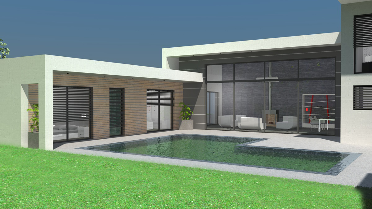 Plan Maison De Ville Moderne