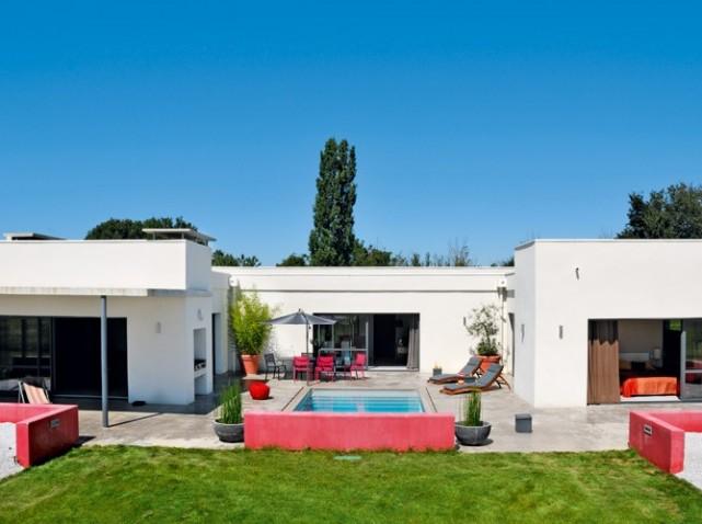 Plan De Maison Moderne En U Avec Piscine 18 Fotos De