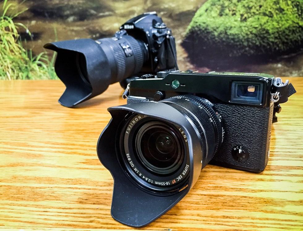 fujifilm xpro1 and nikon d700 cameras