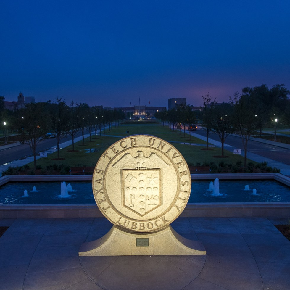 Texas Tech Seal at dawn