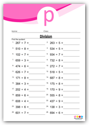 Divide 3 By 1 Digit Numbers
